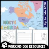 North America political map and worksheet by Working Dog Resources Teaching Resources   Teachers Pay Teachers 5th Grade Social Studies, Social Studies Classroom, Social Studies Activities, Learning Resources, Teacher Resources, Classroom Resources, Teaching Ideas, Map Skills, Research Skills