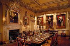 Dining Hall, Woburn Abbey, England.