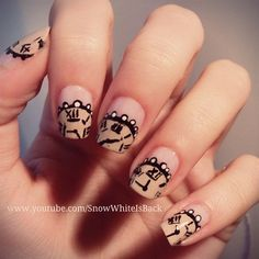 Vintage Clock Nail Design by SnowWhiteIsBack.  Follow me on Instagram @andreea_magyar