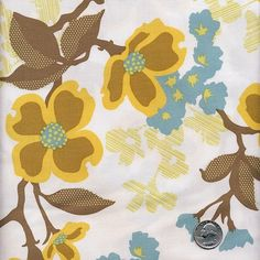1 Yard Joel Dewberry Modern Meadow  Dogwood Bloom by viasplace, $8.99