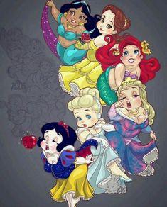 Cute Plus Size Disney Princesses Fan Art Disney Fan Art, Disney Pixar, Disney E Dreamworks, Disney Amor, Disney Cartoons, Disney Movies, Dark Disney, Cute Disney, Disney Magic