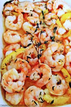 Baked Lemon Garlic Herb Shrimp Scampi