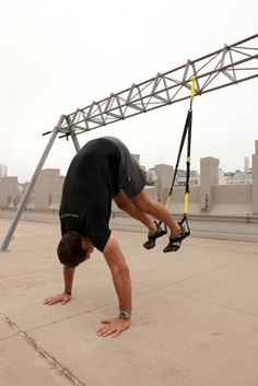 men's magazine 5 toughest TRX exercises for full-body workout! I did these at my first trx class today......these are no joke lol