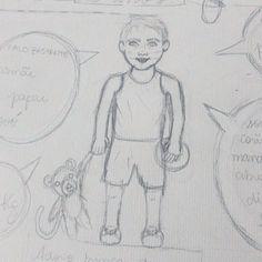Rascunho de uma encomenda que foi puro amor 💙🐒  ⚫  ⚫  ⚫  #watercolour #watercolor #aquarelle #aquarela #ilustración #ilustração #illustration #draw #sketch #paint #desenho #dibujo #desenhando #baby #babyboy #boy #kids #2aninhos #aquarelinhas #wip #lettering #caligrafia #caligraphy #tipography #tipografia #handmade