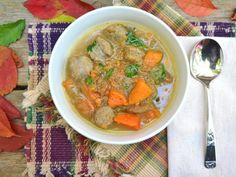 Sweet Potato, Sausage & Apple Schnitz Stew. A hearty & unique soup with all the flavors of Fall.
