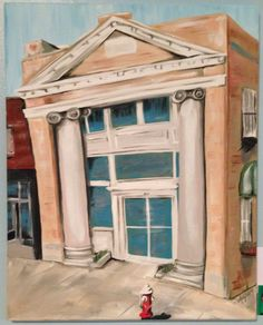 The Old Bank Acrylic on 16x20 Canvas