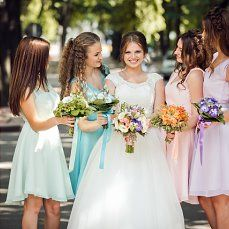 Melissa + Paul – The Paseo Bridesmaid Dresses, Wedding Dresses, Bridesmaids, Pink Blue, Blue Green, Wedding Decorations, Wedding Day, Cute, Flowers