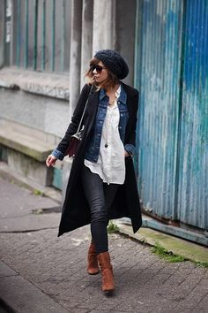 I'm loving all the layers. A great look for fall.