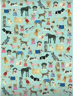 2019 的 wrap :: hot dogs ecowrap - ecojot - eco savvy paper p Dog Wallpaper, Iphone Wallpaper, Cat Pattern Wallpaper, Illustration Mode, Illustrations, Gift Wrapping Paper, Surface Pattern Design, Art Plastique, Dog Art