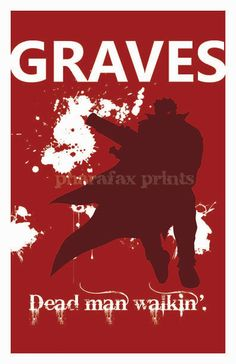 Graves League of Legends Print by pharafax on Etsy, $16.00