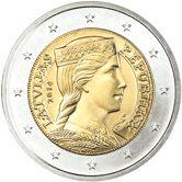 BCE: 2 euros de Letonia