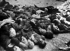 Hungary, Bodies of Jewish men, women and children, victims of the Arrow Cross Party.