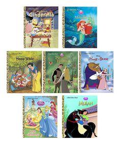 Disney Princess Little Golden Hardcover Set