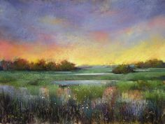 Painting my World: How to Use Oil Paint with Pastels ...Marsh Demo