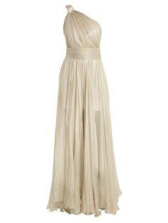 Calista one-shoulder silk-mousseline gown  | Maria Lucia Hohan | MATCHESFASHION.COM US