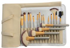 YOA 18-Piece Kabuki Makeup Brush Kit with White Cream Bag. Premium Synthetic Hair-Softer ,Denser and Silkier than stiff animal hair. No Shedding Hair and Not hurt your smooth skin. 100% non-porous bristles-Perfectly apply powder, cream and liquid products. Hand made with solid wood handle and mental ferrule. Complete Function-Foundation, Blending, Blush, Eyeliner & Face Powder. Portable and convenient for daily makeup. Don't you think it WILL BE A GREAT GIFT for one of your loved ones…