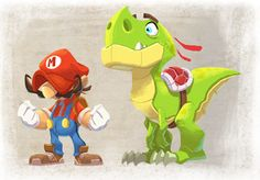 Mario and Yoshi by Javas