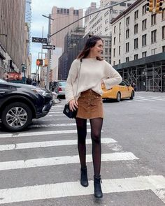 55 Best Ideas Outfits for Short Women - Fashion Mode 2020 Winter Fashion Outfits, Fall Winter Outfits, Look Fashion, Autumn Fashion, Summer Outfits, Casual Outfits, Fall Skirt Outfits, Autumn Outfits Women, Ootd Winter