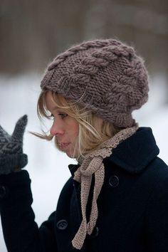 Mütze aus dicker Wolle stricken Must Knit schoenstricken.de