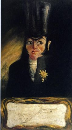 Portrait of El Sany Pancraci (1919), early work of Dali Salvador.