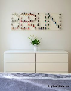 DIY nail polish shelf ♥ – # nail polish shelf - Make Up Desk Nail Polish Storage, Diy Nail Polish, Diy Nails, Dressing Table Storage, House Lamp, Nail Polish Collection, My Room, Room Inspiration, Diy Furniture