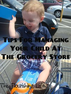 tips for managing your child at the grocery store