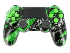 """Green Splash Candy"" PS4 Custom Modded Controller Premium Finish w/ Master Mod for Ghost COD Auto Aim, Drop Shot, Jitter, Fast Reload, Quick Scope, Much More! - http://androidizen.com/shop/green-splash-candy-ps4-custom-modded-controller-premium-finish-w-master-mod-for-ghost-cod-auto-aim-drop-shot-jitter-fast-reload-quick-scope-much-more/"