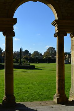 The Italian Gardens at Hever Castle #arch #view #gardens