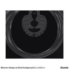 Abstract design on black background photo print
