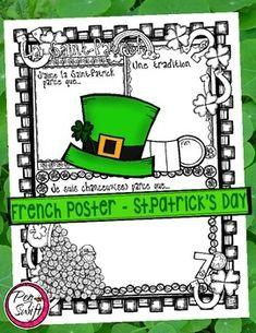 ♣ FREE ♣ Celebrate St. Patrick's Day with this fun poster ♣ La Saint-Patrick!