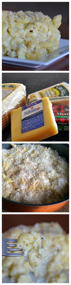 Macaroni & Four Cheese recipe with Gruyère, Fontina, Sharp Cheddar, and Parmigiano-Reggiano! (Baking Pasta Cheddar)