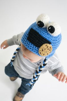 """""""C"""" is for Cookie Cap - Cozy and cute, this monster hat is not only perfect for Halloween, but also the rest of the season. From I Like Crochet's October 2014 issue"""