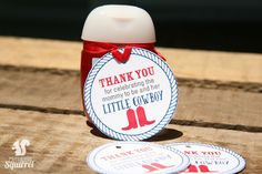 Thank You for Celebrating the Mommy to be and her Little Cowboy Tags, Perfect for Baby Showers, Prin Cowboy Baby Shower, Baby Shower Tags, Baby Shower Themes, Baby Showers, Shower Ideas, Little Cowboy, Wine Bottle Labels, Retirement Parties, Baby Shower Invitations