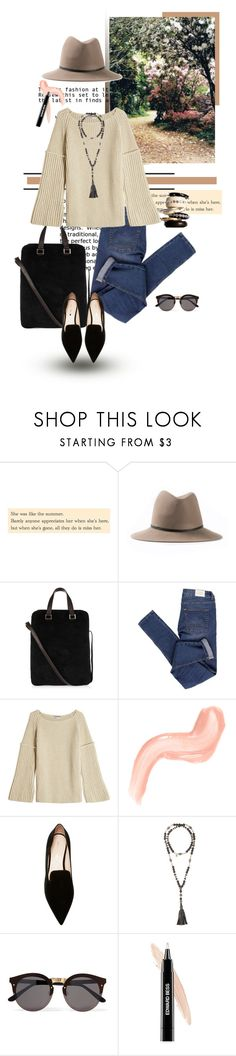 """""""Casual Monday"""" by heather ❤ liked on Polyvore featuring Janessa Leone, The Row, Cheap Monday, Agnona, Nicholas Kirkwood, Hipchik, Illesteva, Edward Bess and Adele Marie"""