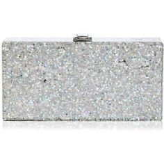 Milly Star Box Clutch ($300) ❤ liked on Polyvore featuring bags, handbags, clutches, bolsas, accessories, glitter clutches, lucite handbags, box clutch, glitter purse and star purse