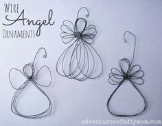 holiday crafts Adventures of a DIY Mom - How to Make a Wire Angel Ornament - Days of CHRISTmas Ornaments} Wire Ornaments, Nativity Ornaments, Christmas Nativity, 12 Days Of Christmas, Diy Christmas Ornaments, Homemade Christmas, Christmas Angels, Christmas Holidays, Christmas Decorations