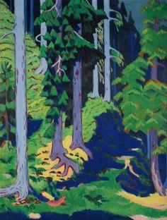 Inside The Forest, Ernst Ludwig Kirchner
