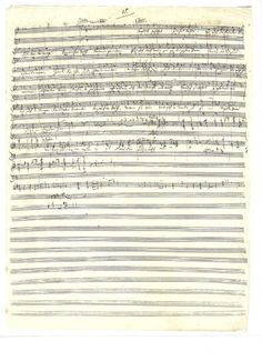 """the original manuscript of Richard Wagner's """"Here Comes the Bride"""" from Lohengrin"""