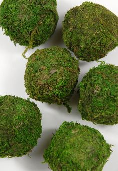 """2"""" Natural Moss Balls (6 balls) $3.99 pkg./ 3 pkgs $2.99 each,  Thanksgiving Tablescape"""