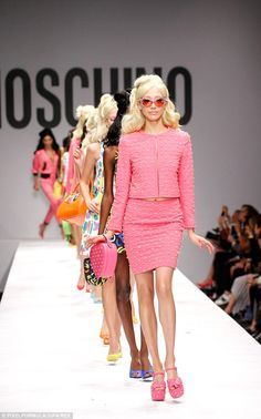I'm a Barbie girl! Jeremy Scott, in his second season as creative head for Moschino, put on a super fun, Barbie-inspired show in Milan last night