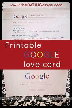 Printable Google Card