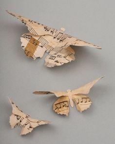 Paper Butterflies.  Cute.