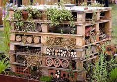 i LOVE this insect house! beneficial insects of course.