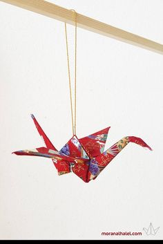 Items similar to Origami mobile crane ornament - Japanese crane home decor - wedding gift - luck ornament - Japanese art - fabric crane - housewarming gift on Etsy Origami Ornaments, Fabric Ornaments, Hanging Ornaments, Japanese Crane, Japanese Art, Decor Wedding, Wedding Gifts, Origami Mobile, Japanese Origami