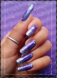 Nail art « Purple Band » | Tartofraises