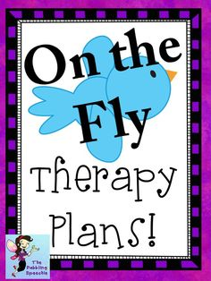 The Dabbling Speechie: On the Fly Therapy Plans! Pinned by SOS Inc. Resources. Follow all our boards at pinterest.com/sostherapy/ for therapy resources.
