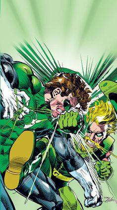 Green Lantern vs Green Arrow by Neal Adams