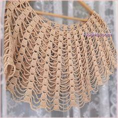 Best 12 Summer capes (part Crochet Cape, Love Crochet, Vintage Crochet, Knit Crochet, Crochet Shawl Diagram, Crochet Poncho Patterns, Crochet Stitches, Crochet Doilies, Crochet Clothes