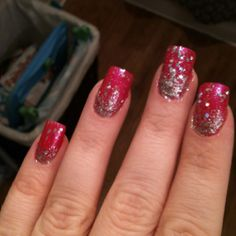 Added some bling to my nails for the new yeae