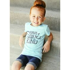 Girls graphic tee! Magic, courage, kindness and goodness all in a tshirt! Comes in pink too!